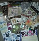 SCRAPBOOKING EMBELLISHMENTS MIXED LOT chipboard Prima feathers and more