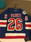 Jimmy Vesey Signed New York Rangers Home Jersey 90th Anniversary COA PROOF