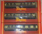 LOT 0F 3 HORNBY GAUGE OO PASSENGER CARS GWR CLERESTORY COACHES IN MINT COND