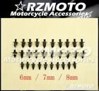 6/7/8(mm) Plastic Expansion Screw Bolts Nuts Fairing Universal Fit HONDA 3