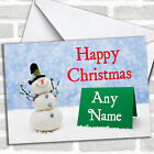 Snowman's Note Christmas Customised Card Personalized