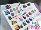 PP347 Back To School Painting Icons Planner Stickers for Erin Condren 51pcs