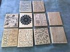 SCRAPBOOKING STAMPIN UP BACK GROUND STAMP LOT MUSIC HONEYCOMB WOOD ATLAS