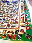 NEW w TAGS 1950 60s WEST GERMAN TABLECLOTH Vintage Cities CREST 50x62 TOURIST