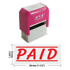PAID w 2 lines Self Inking Rubber Stamp JYP 4911R 33 RED INK