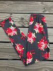 Red Pink Rose Flower Design Womens Leggings PS Plus Size TC 12 20 Soft As LLR