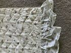 Vintage Quilted Bedspread Pink Red Blue Flowers Full