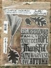 Tim Holtz Thankful Silhouettes CMS 116 Stampers Anonymous Gently Used