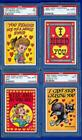 1959 59 TOPPS FUNNY VALENTINES COMPLETE 66-CARD SET MOST ARE PSA GRADED