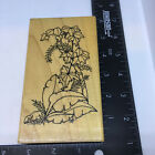 Dots Rubber Stamp Tropical Leaves