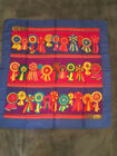 Vintage GUCCI Silk Scarf Ribbons Bright Bold colors Blue made in Italy