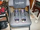 Lanvin of Paris Iridescent Green Red Material Suede Ankle Sneaker SzIT 7 US 8