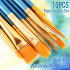 Artist Paint Brushes Set Kit Watercolour Acrylic Oil Painting Face Craft Tool