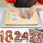 3D Letters Numbers Cake Embossing Cutter Decorating Stencil Sugar Fondant Mould