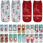 12Styles Men Women 3D Chriatmas Socks Low Cut Ankle Sports Casual Socks Casual