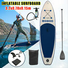105ft Inflatable SUP Stand Up Paddle Board w Pump Paddle Rope Travel Backpack
