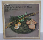 Vintage Indiana Glass Olive Green Egg Hors d'Oeuvre 13 Inch Tray 7703 in Origina