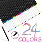 24 Fineliner Colors Drawing Painting Sketch Artist Manga Markers Pens Set 04mm