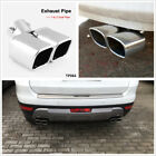 24 Stainless Steel 1 to 2 Dual Chrome Pipe Car Exhaust Pipe Muffler Tip Covers