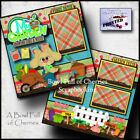 MY GARDEN backyard 2 premade scrapbook pages layout printed paper piecing Cherry
