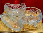 VINTAGE CRYSTAL CUT GLASS BOWLS (MINT CONDITION) SET OF 3