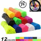 72PCS Spoke Skin Cover Wrap Wheel Rim Protector For Motocross Dirt Bike Off Road