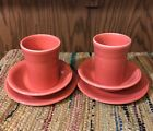 Fiestaware Retired Persimmon 2 Cups, 2 Fruit Bowls, 2 Saucers 6pc Lot