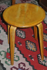 Vintage Thonet Stool Side Table Chair Mid Century Modern Classic Bent Wood
