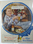 Vintage Print Ad Pabts Blue Ribbon Beer 1950 original 10 x 13 in