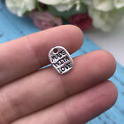20pcs Made With Love Tibet silver Charms Pendants DIY Jewellery Making crafts