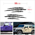 2Pcs Black Sharp Scratch nick Decorate Vinyl Car Decal Sticker For Jeep Wrangler