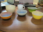 Fire King Lot of Glassware Cereal Chili Bowls Mug 7 Peice Lot