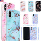 Bright Marble Pattern Phone Case Glossy Hard Shell For iPhone X 8 7 6s 6 Plus