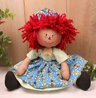 Primitive Raggedy Ann Art Doll Bumble Bee Apron Farmhouse Decor Handcrafted OOAK