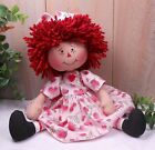 Primitive Raggedy Ann Art Doll Rose Hearts Farmhouse Home Decor Handcrafted OOAK