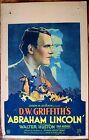 ABRAHAM LINCOLN 30 NEVER FOLDED WINDOW CARD POSTER WALTER HUSTON DW GRIFFITH