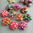 New puppy ball Boutique flower dog hair bow clips rubber bands pet hairpins