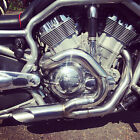 Speed Demon Dragster VRSC VRod Exhaust System Nightrod with Heat Shield