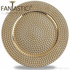 Fantastic Round 13Inch Charger Plate With Shiny Finish  Hammer Pattern