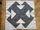 Vintage Antique 1 Double T Quilt Block Hand Stitched Cotton  11