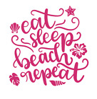 Eat Sleep Beac Decal Summer Decal Sticker ALL DECALS BUY 2 GET 1 FREE