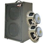 2x10 VerticalGuitar Spkr Cabinet W/CELESTION G10 Speakers Charcoal black Tolex