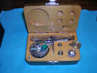 Vintage Jewelers Miniature Balance Scale in Wooden Box with Weights
