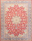 Spectacular Vintage Old Red Floral 8x11 Wool Najafabad Persian Oriental Area Rug