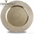 Fantastic Round 13Inch Charger Plate With Metallic Finish  Stone Pattern