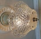 333b Vintage 40s Ceiling Light Lamp Fixture Chandelier 3 Light foyer bath hall