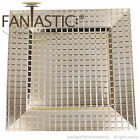 Fantastic Square 13Inch Charger Plate With Shiny Finish  Grid Pattern