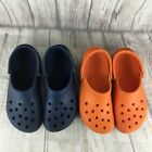 Crocs Classic Clogs Unisex Size M 8-9 - W 10-11, Lot Of 2 Blue and Orange
