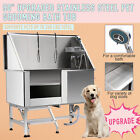 Pet Dog Cat Wash Shower Grooming Bath Tub Professional Stainless Steel 50