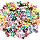 2PCS LOT New puppy bow colorful design dog hair bow rubber bands pet hair rope
